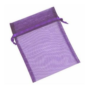 Organza Sheer Nylon Mesh Bag w/ Satin Ribbon (4